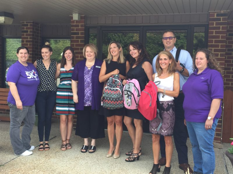 Merck-donation-backpacks-virginia-beach-samaritan-house